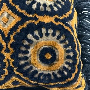 Bedding - Vintage | 70s Weave Fringe Throw Pillow